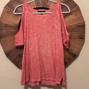 Red/Orange No Shoulder Top